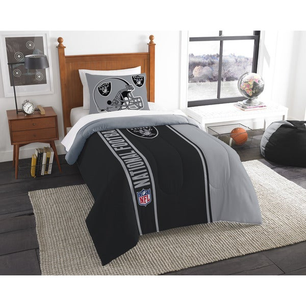 The Northwest Company Official NFL Oakland Raiders Twin Applique 2-piece Comforter Set