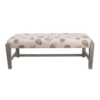 Privilege Contemporary Brown Seashell Fabric Bench
