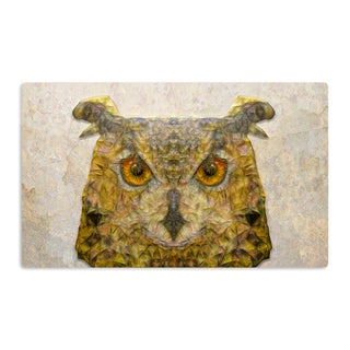 KESS InHouse Ancello 'Abstract Owl' Brown Artistic Aluminum Magnet