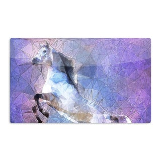 KESS InHouse Ancello 'Abstract Horse' Purple Blue Artistic Aluminum Magnet