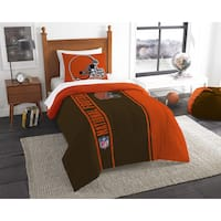 The Northwest Company Official NFL Cleveland Browns Twin Applique 2-piece Comforter Set