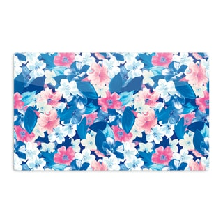 KESS InHouse Aimee St. Hill 'Blue Bloom' Artistic Aluminum Magnet