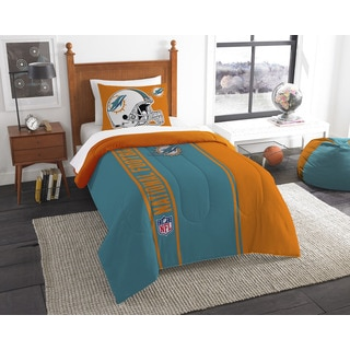 The Northwest Company Official NFL Miami Dolphins Twin Applique 2-piece Comforter Set