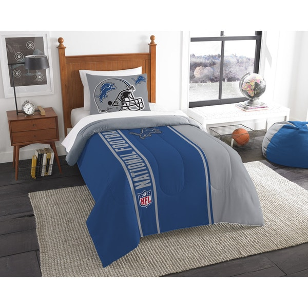 The Northwest Company Official NFL Detroit Lions Twin Applique 2-piece Comforter Set