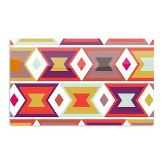 KESS InHouse Pellerina Design 'Aztec Weave' Orange Purple Artistic Aluminum Magnet
