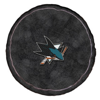 The Norhwest Collection Sharks Black Polyester 15-inch x 15-inch x 2-inch Round Plush Pillow