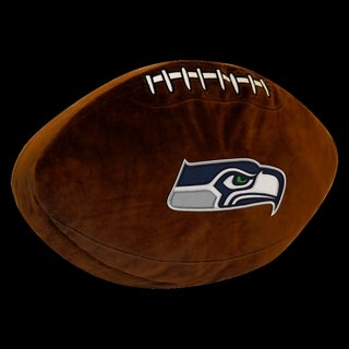 The Northwest Company NFL 199 Seahawks Brown Polyester 3-D Sports Pillow