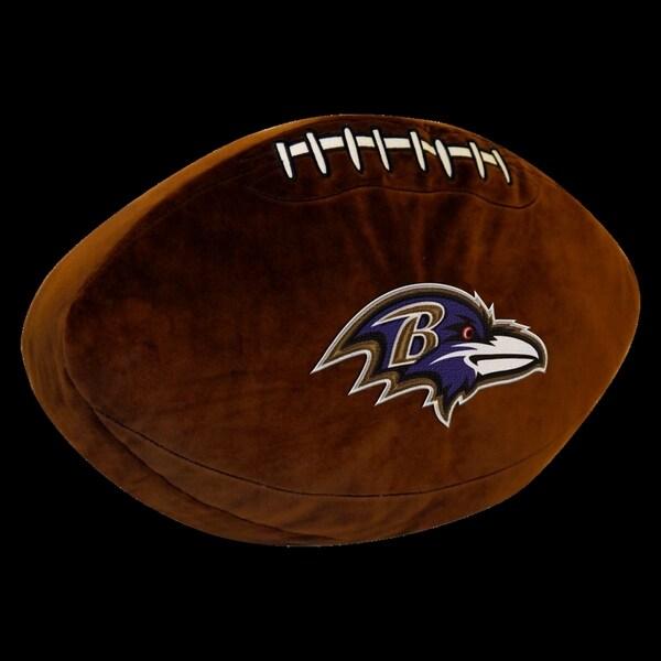 NFL 199 Baltimore Ravens Brown Polyester 3D Sports Pillow