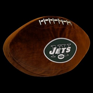 The Northwest Company NFL 199 Jets Brown Polyester 3D Sports Pillow