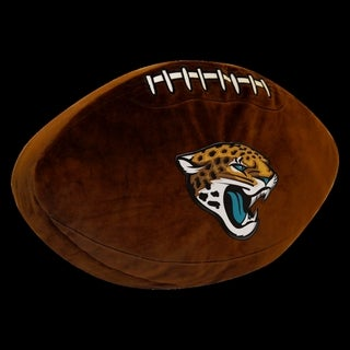 The Northwest Company NFL Jaguars 3D Football-Shaped Plush Pillow