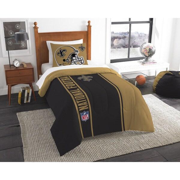 The Northwest Company Official NFL New Orleans Saints Twin Applique 2-piece Comforter Set