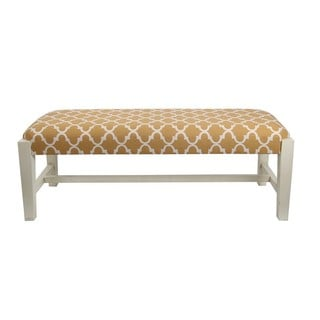 Privilege Contemporary Orange Fabric Cocktail Bench