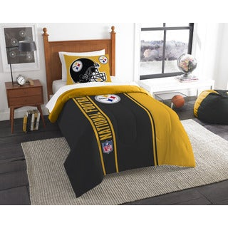 The Northwest Company Official NFL Pittsburgh Steelers Twin Applique 2-piece Comforter Set