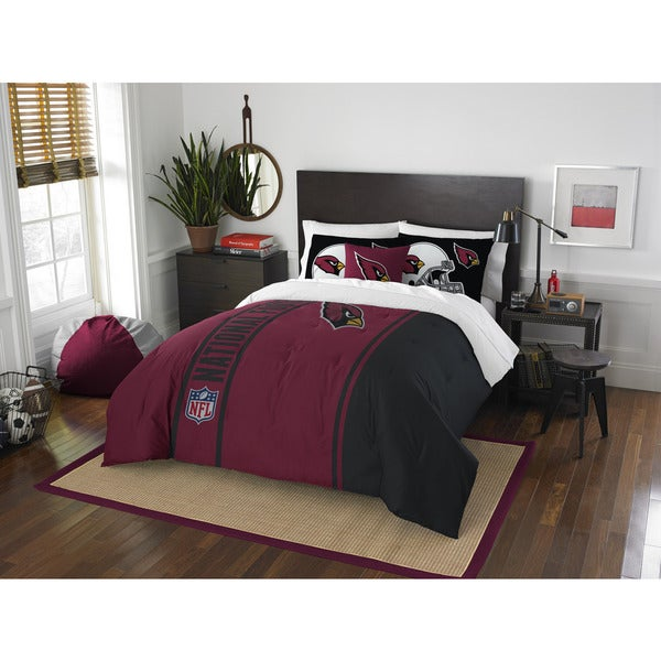 The Northwest Company Official NFL Arizona Cardinals Full Applique 3-piece Comforter Set