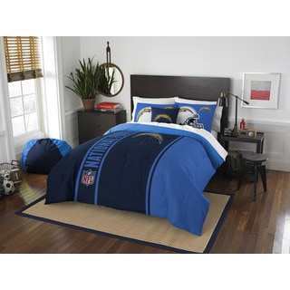 The Northwest Company Official NFL Los Angeles Chargers Full Applique 3-piece Comforter Set