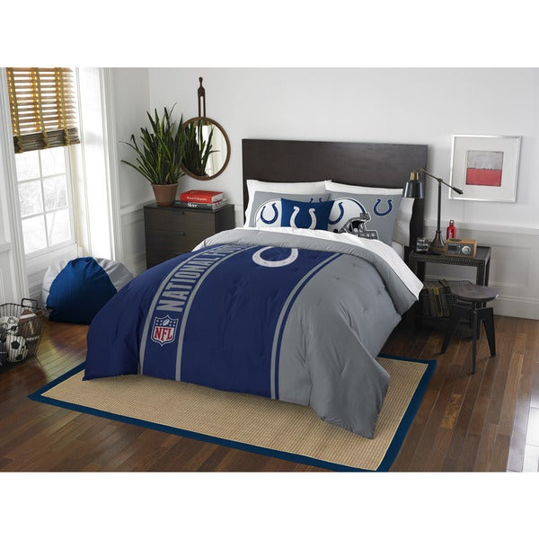 The Northwest Company Official NFL Indianapolis Colts Full Applique 3-piece Comforter Set