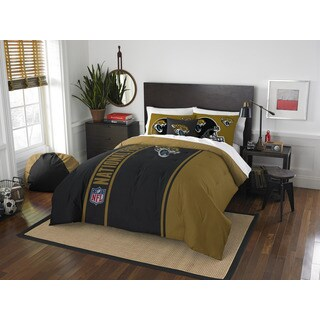 The Northwest Company Official NFL Jacksonville Jaguars Full Applique 3-piece Comforter Set