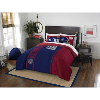 The Northwest Company Official NFL 836 NY Giants Full Applique Comforter and 2 Shams Set