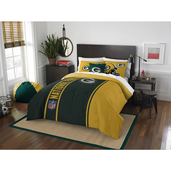 The Northwest Company Official NFL Green Bay Packers Full Applique 3-piece Comforter Set