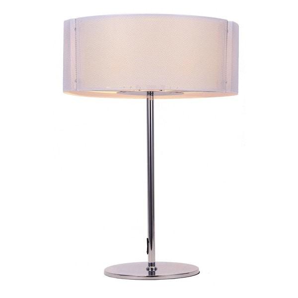 Lynch White Iron Mesh Table Lamp