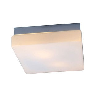 Lynch White Square Flush Mount Light