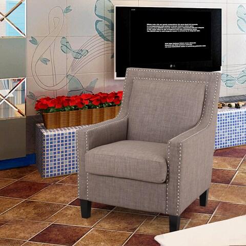 Adeco Durable Multi-colored Nailhead Trim Living Room Chair