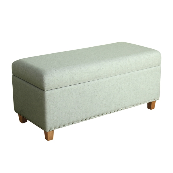 Homepop Lauren Pale Blue Storage Bench Free Shipping Today 18974978