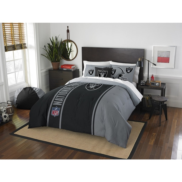 The Northwest Company Official NFL Oakland Raiders Full Applique 3-piece Comforter Set