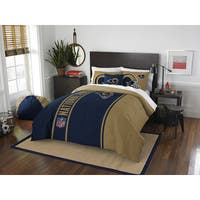 The Northwest Company Official NFL Los Angeles Rams Full Applique 3-piece Comforter Set
