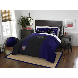 The Northwest Company Official NFL Baltimore Ravens Full Applique 3-piece Comforter Set