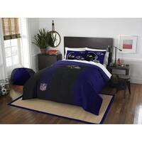 The Northwest Company Official NFL Baltimore Ravens Full Applique 3-piece Comforter Set