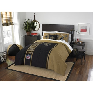 The Northwest Company Official NFL New Orleans Saints Full Applique 3-piece Comforter Set