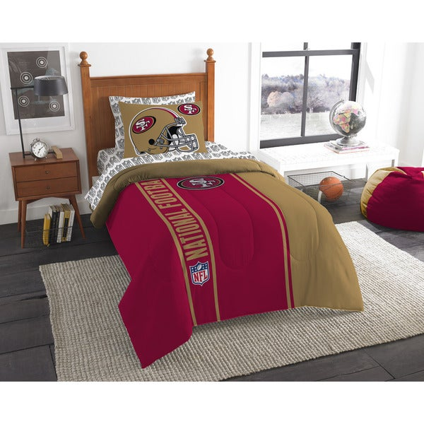 The Northwest Company NFL San Francisco 49ers Twin 5-piece Bed in a Bag with Sheet Set