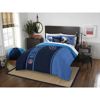 The Northwest Company Official NFL Tennessee Titans Full Applique 3-piece Comforter Set