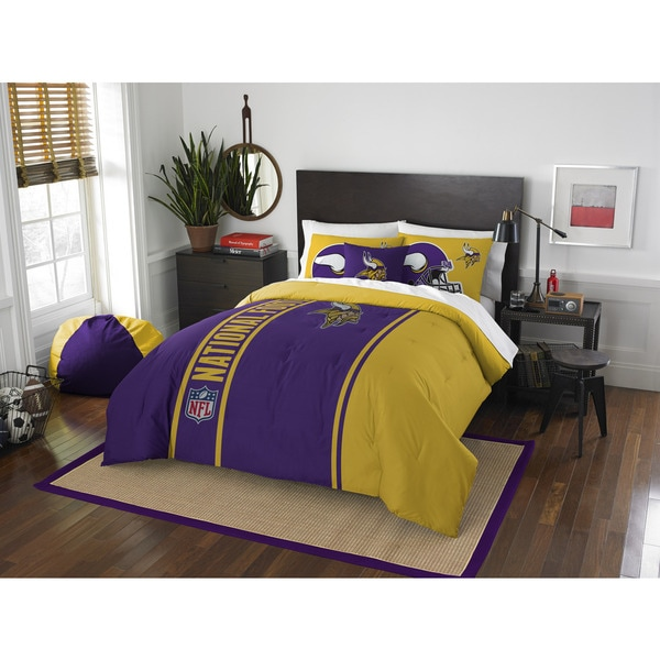 The Northwest Company Official NFL Minnesota Vikings Full Applique 3-piece Comforter Set