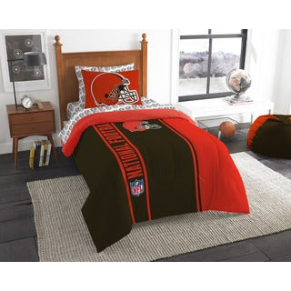 NFL 845 Browns Twin 5-piece Bed in a Bag with Sheet Set