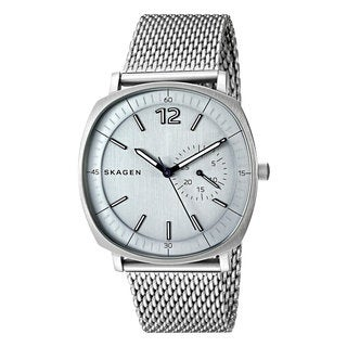 Skagen Rungsted Grey Mineral Dial Silvertone Stainless Steel Men's Watch