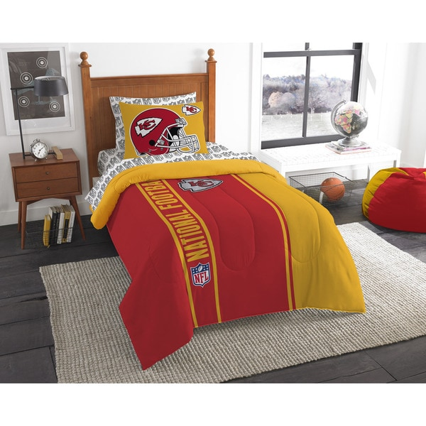 The Northwest Company NFL Kansas City Chiefs Twin 5-piece Bed in a Bag with Sheet Set