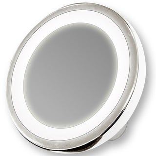Rucci Professional 10x Magnification Water-resistant LED Suction Mirror