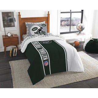 The Northwest Company NFL New York Jets Twin 5-piece Bed in a Bag with Sheet Set