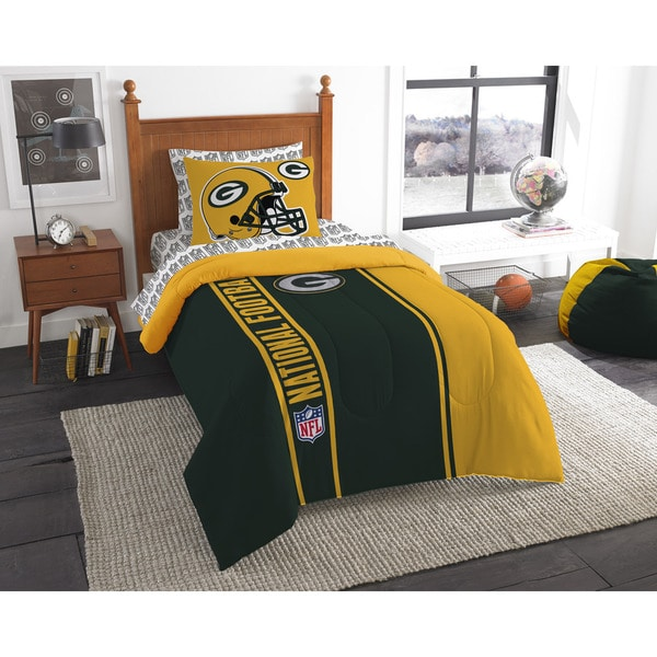 The Northwest Company NFL Green Bay Packers Twin 5-piece Bed in a Bag with Sheet Set