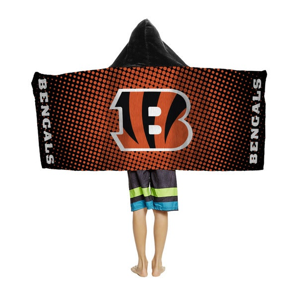 NFL 914 Bengals Youth Hodded Beach Towel