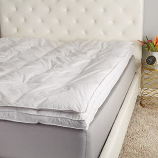 Hotel Madison 230 Gusset Dot Extra Support Overstuff Featherbed https://ak1.ostkcdn.com/images/products/12114421/P18975237.jpg?impolicy=medium