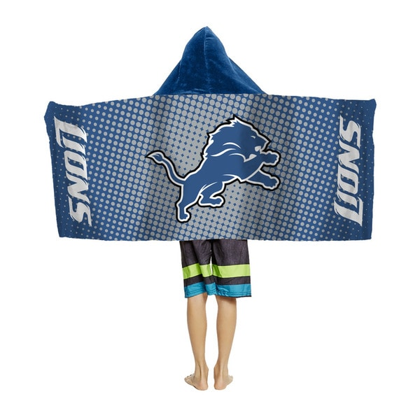 NFL 914 Lions Youth Hooded Beach Towel