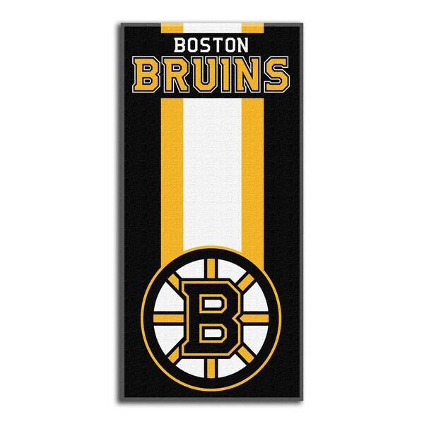 NHL 720 Bruins Zone Read Beach Towel