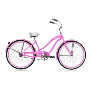 Micargi 26-inch Pink Rover Single-speed Cruiser Bicycle