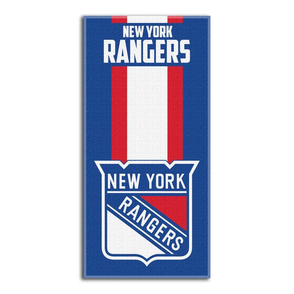 NHL 720 Rangers Zone Read Beach Towel