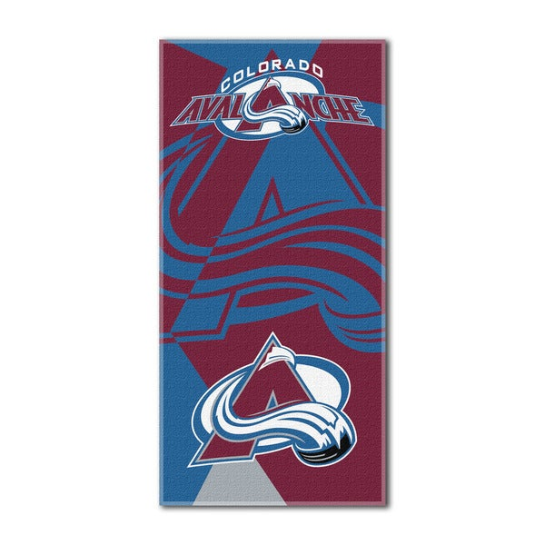 NHL 622 Avalanche Puzzle Beach Towel
