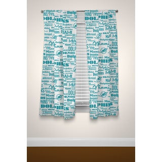 Ombre Multicolored Polyester Window Curtain Panel