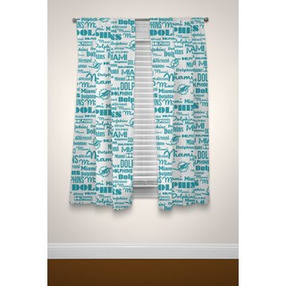 The Northwest Company NFL Miami Dolphins Multicolored Curtain Panel Pair